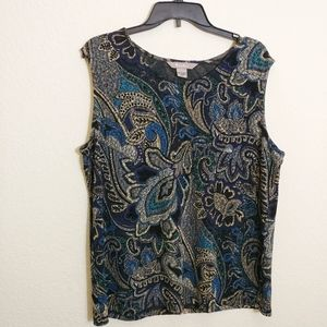 Large TanJay Sleeveless Blouse NWT